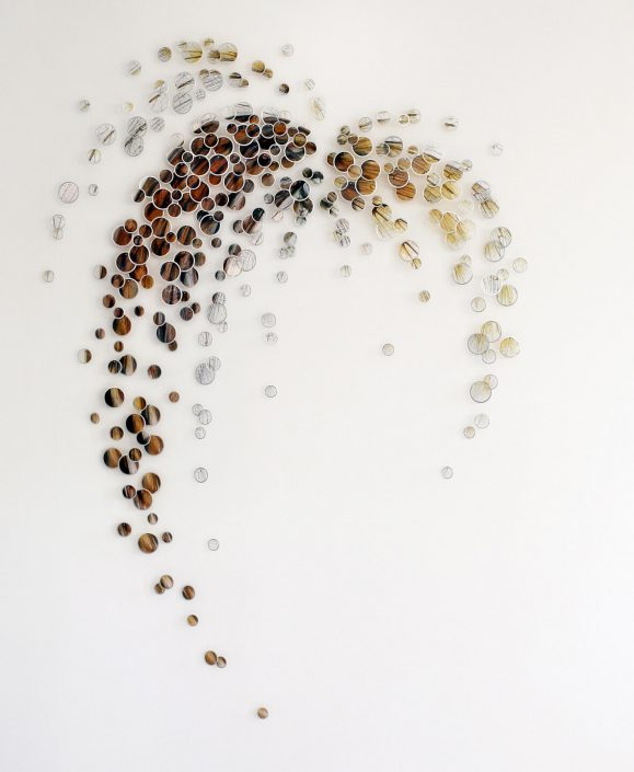 Alan Bur Johnson - Pollinium (SOLD), 2010, 266 photographic transparencies, metal frames, dissection pins, 71 by 50.5 by 2 inches