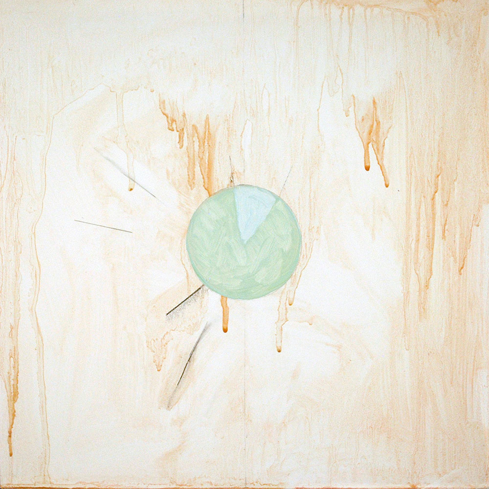Angela Ellsworth - Pause VIII (The compass said north), 2018, oil and graphite on board, 12 by 12 inches
