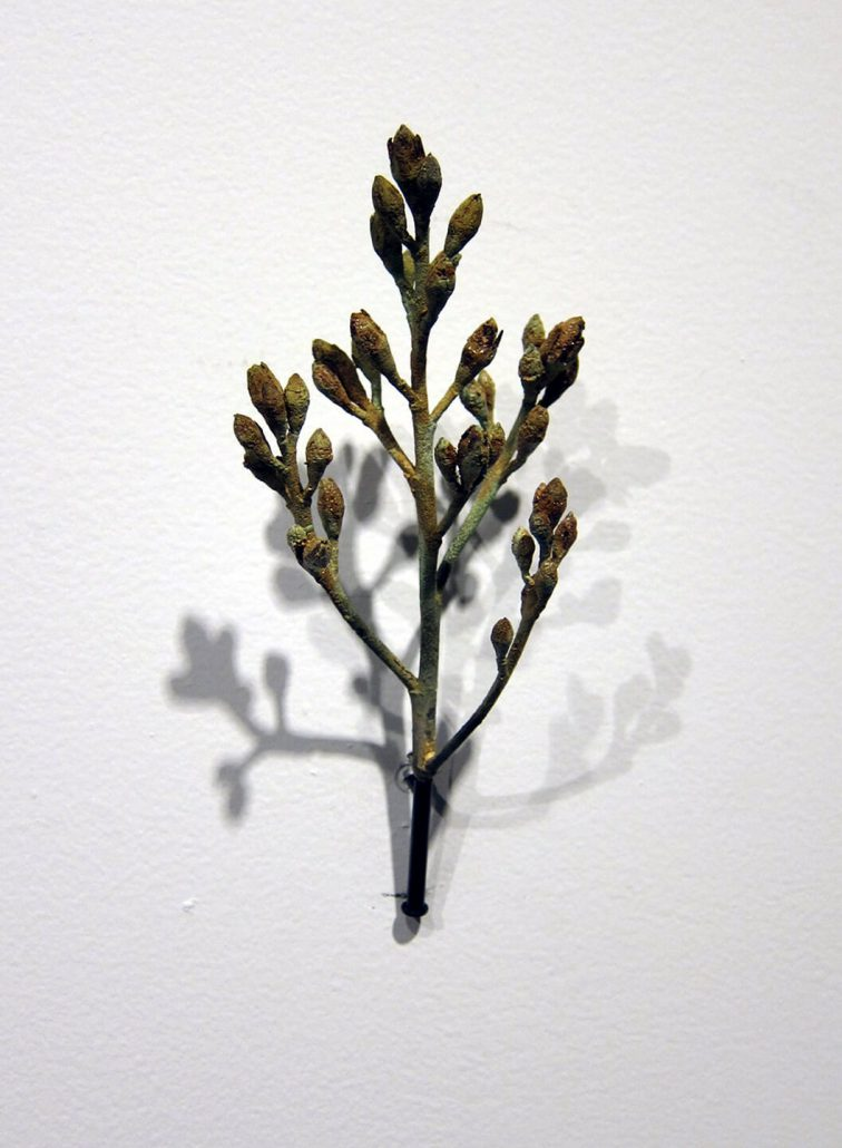 Beverly Penn - Hawthorn (SOLD), 2014, cast bronze, 5.25 by 2.5 by 2 inches