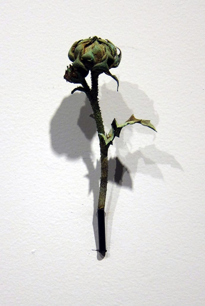 Beverly Penn - Sunflower (SOLD), 2014, cast bronze, 4.5 by 1.5 by 1 inches