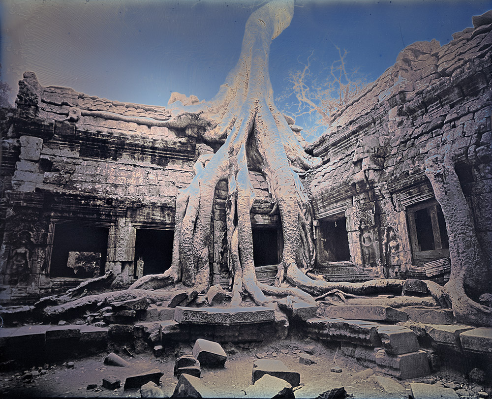 Binh Danh - Angkor Thom Ruins, 2017, daguerreotype (exposed from an enlarger), 10 by 12 inches / 15 by 16.75 inches framed, edition of 3