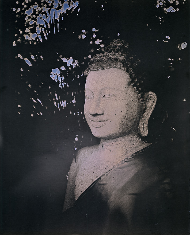 Binh Danh - Buddha of Phnom Penh #2, 2017, daguerreotype (exposed from an enlarger), 12 by 10 inches / 17 by 14.75 inches framed, edition of 3