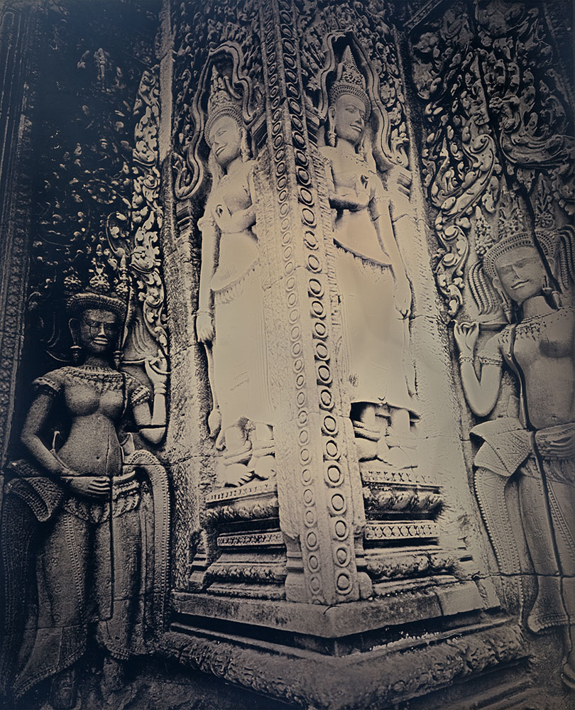 Binh Danh - Divinities of Angkor Wat #1, 2017, daguerreotype (exposed from an enlarger), 12 by 10 inches / 17 by 14.75 inches framed, edition of 3