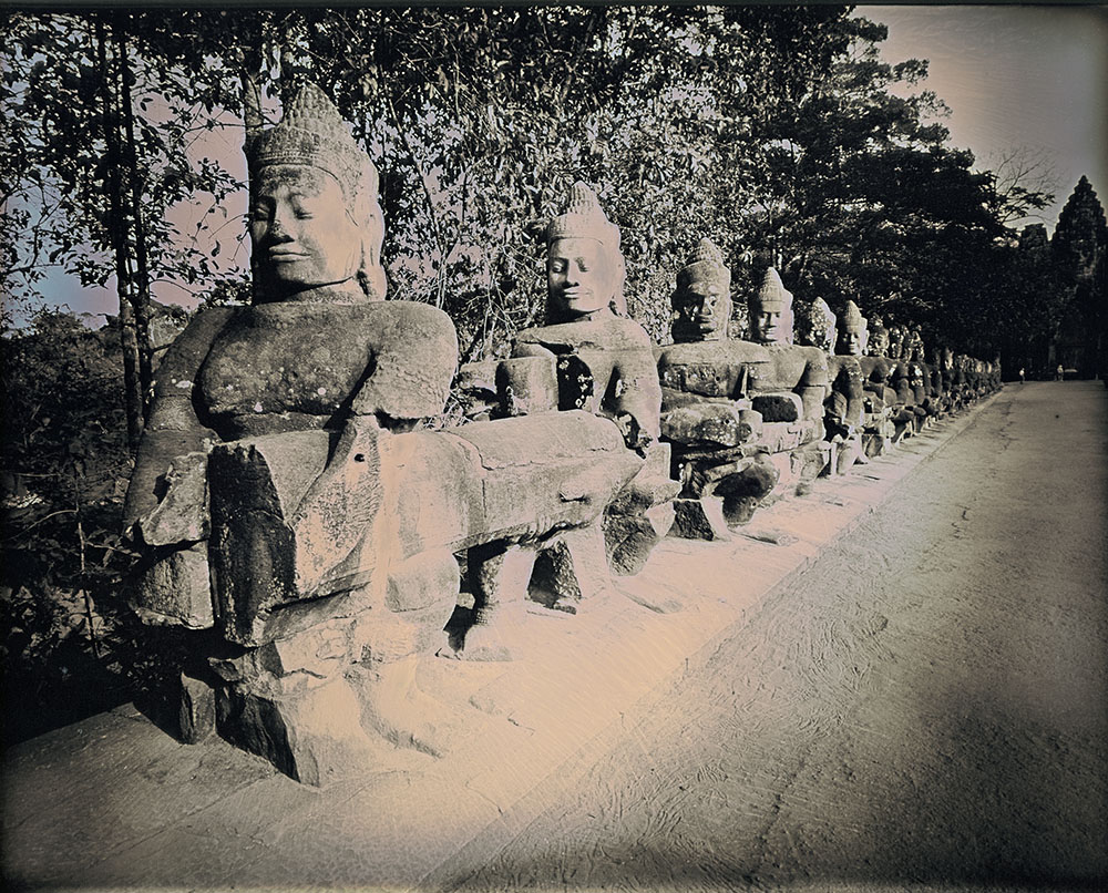 Binh Danh - Entrance to Angkor Thom, 2017, daguerreotype (exposed from an enlarger), 8 by 10 inches / 13 by 14.75 inches framed, edition of 3