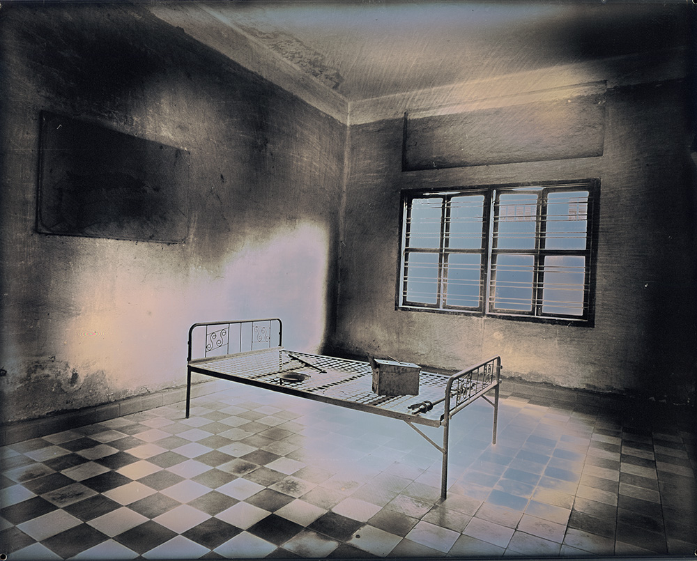 Binh Danh - Former Torture Cell at Tuol Sleng Genocide Museum, 2017, daguerreotype (exposed from an enlarger), 8 by 10 inches / 13 by 14.75 inches framed, edition of 3