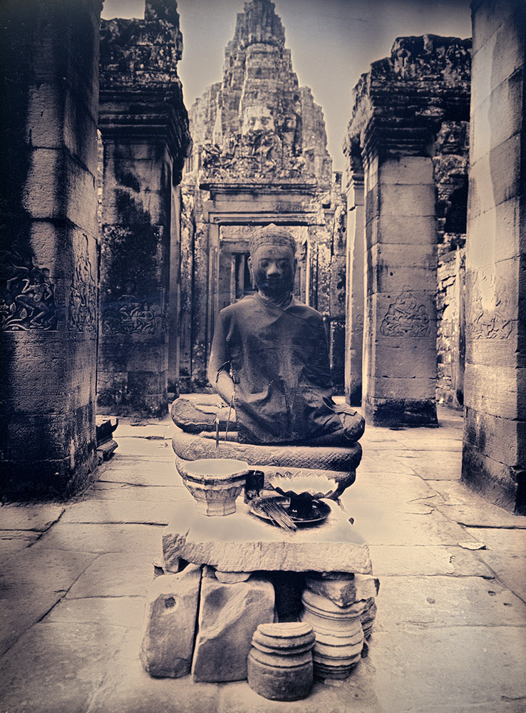 Binh Danh - Meditating Buddha of Bayon, 2017, daguerreotype (exposed from an enlarger), 8 by 6 inches / 11.25 by 9.25 inches framed, edition of 3