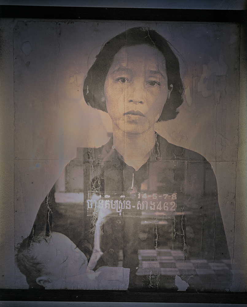 Binh Danh - Mother and Child, Tuol Sleng Genocide Museum, Cambodia, 2017, daguerreotype (exposed from an enlarger), 12 by 10 inches / 17 by 14.75 inches framed, edition of 3
