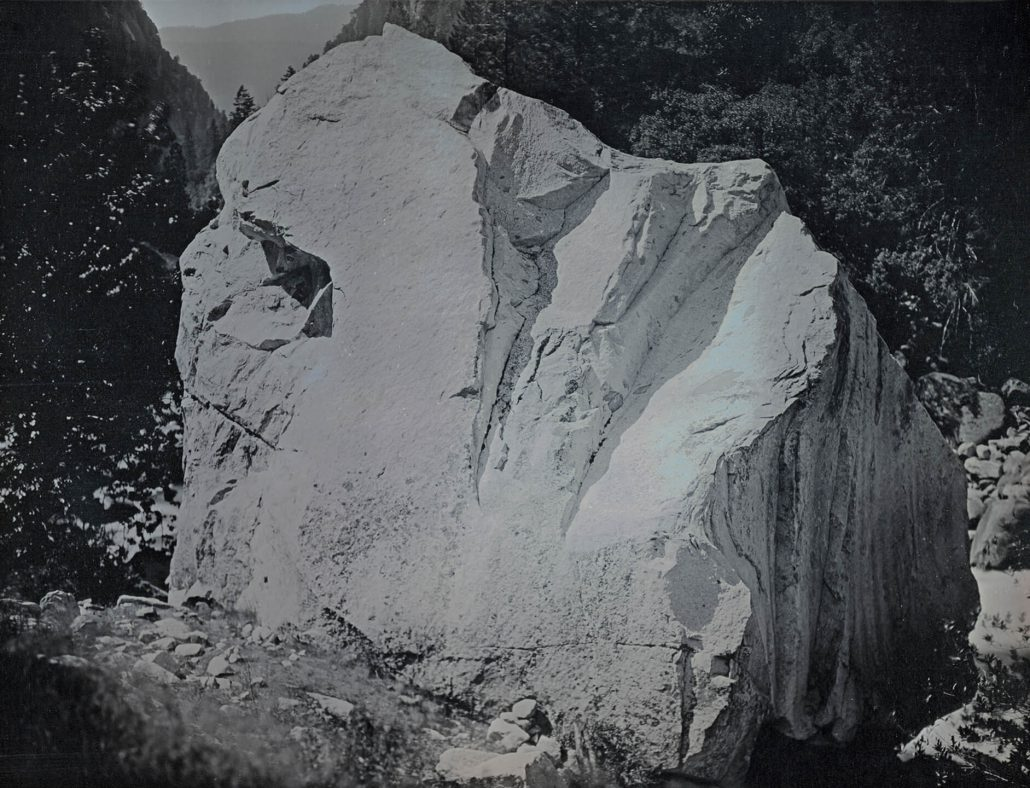 Binh Danh - Rock on Merced River, Yosemite, CA, June 7, 2012 #2, 2012, daguerreotype (in camera exposure), 6.5 by 8.5 inch plate, 10.75 by 12.5 inches framed