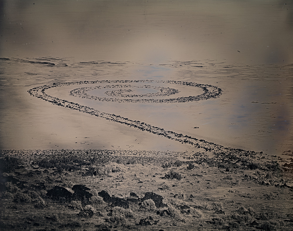 Binh Danh - Spiral Jetty, Utah (#5), 2017, Daguerreotype, 8 by 10 inches / 12.5 by 14.75 inches, unique