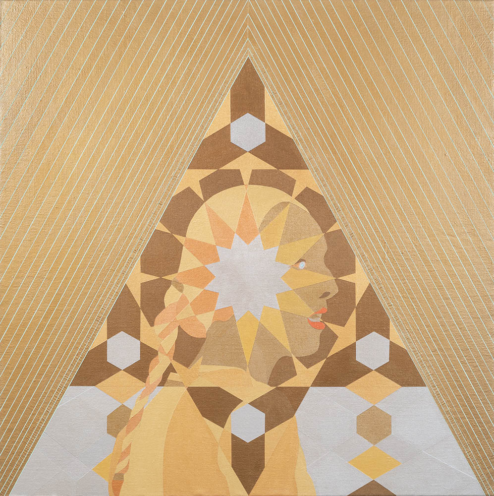 Carrie Marill - Alchemy, 2019, acrylic on linen, 44 x 44 inches