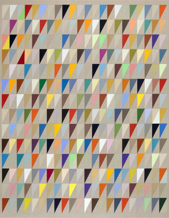 Carrie Marill - De Colores (SOLD), 2011, acrylic on linen, 44 by 34 inches