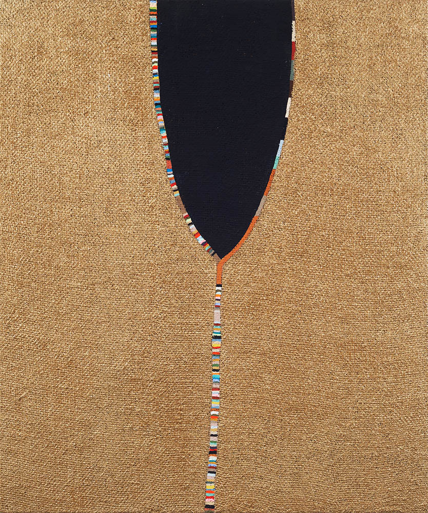 Carrie Marill - One Breath (SOLD), 2019, acrylic on burlap, 24 x 20 inches