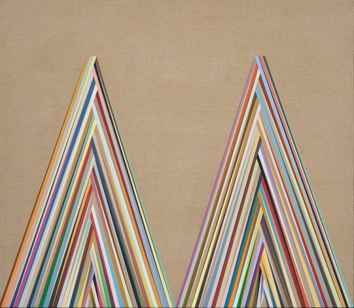 Carrie Marill - Get Up Get Down (SOLD), 2015, acrylic on linen, 38 by 44 inches, 39.5 by 45.5 framed