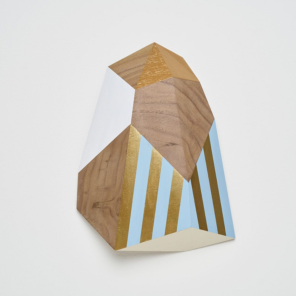 Carrie Marill - Walnut B (SOLD), 2017, acrylic on wood, 10 by 8 by 2 inches