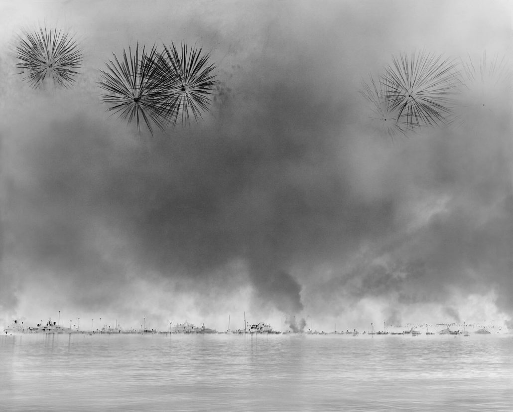 Damion Berger - Italy, Cannes International Firework Festival, 2009, pigment ink print on Baryta paper, Diasec mounted in aluminum frame, 24 by 30 inches unframed, 60 by 74 inches framed