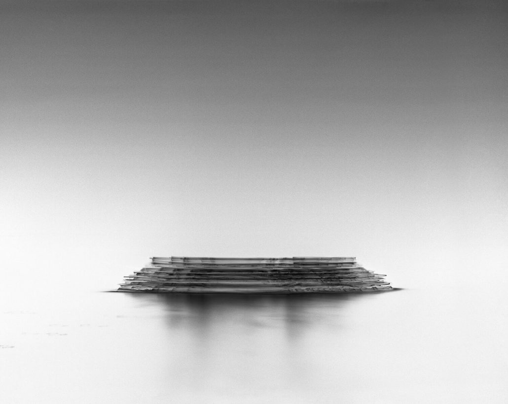Damion Berger - M/Y Katara II, Ligurian Sea, 2014, pigment print on Baryta paper, Diasec mounted in artist's frame, 62.5 by 79 inches