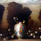 David Kroll - Vase, Nest and Flowering Vine, 2005, oil on linen, 48 x 58 inches