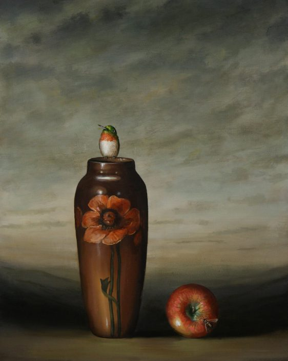Vase and Apple