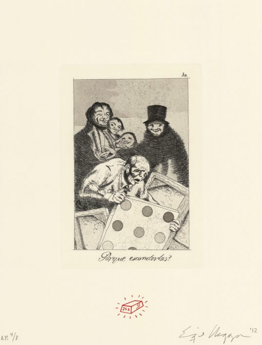 Recurrent Goya (Suite of 8 prints) (detail)