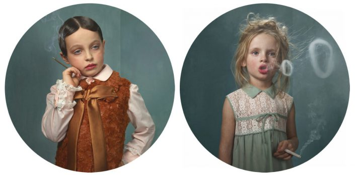 Frieke Janssens - Cigarillo & Ringlings, 2011, digital chromogenic dye print mounted, 35 by 35 inches each.
