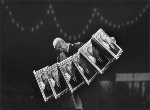 Gilbert Garcin - 166 -Virtuose jouant un air connu (Virtuoso playing a well known tune), 2001, gelatin silver print, 8 by 12 inches, 12 by 16 inches, or 20 by 24 inches