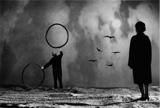 Gilbert Garcin - 217 -La double méprise (Twofold misunderstanding), 2002, gelatin silver print, 8 by 12 inches, 12 by 16 inches, or 20 by 24 inches