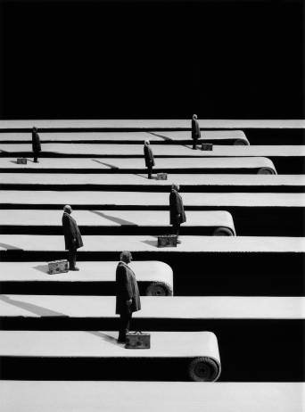 Gilbert Garcin - 254 -Le plus court chemin (The shortest path), 2004, gelatin silver print, 12 by 8 inches, 16 by 12 inches, or 24 x 20 inches