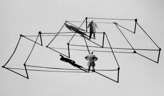 Gilbert Garcin - 272 -Faire valoir son droit (Claiming one's right), 2004, gelatin silver print, 8 by 12 inches, 12 by 16 inches, or 20 by 24 inches