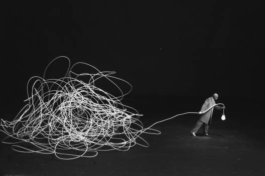 Gilbert Garcin - 294 -Diogène ou la lucidité (Diogenes or lucidity), 2005, gelatin silver print, 8 by 12 inches, 12 by 16 inches, or 20 by 24 inches
