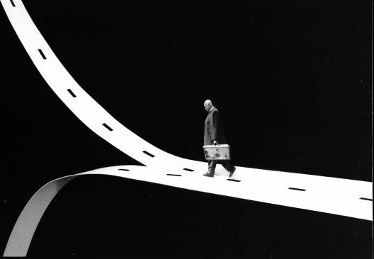 Gilbert Garcin - 307 -Le choix décisif (The decisive choice), 2006, gelatin silver print,8 by 12 inches, 12 by 16 inches, or 20 by 24 inches