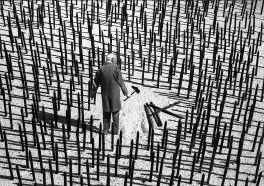 Gilbert Garcin - 328 - Obstination (Doggedness), 2006, gelatin silver print,8 by 12 inches, 12 by 16 inches, or 20 by 24 inches