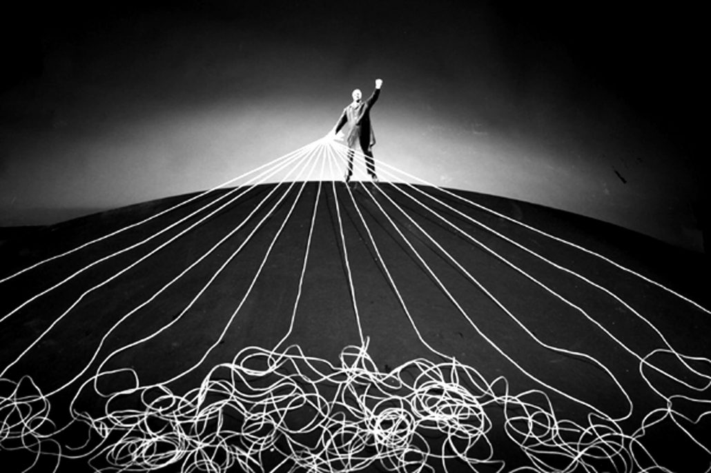 Gilbert Garcin - 374 - Maitre du monde (The master of the world), 2008, gelatin silver print, 8 by 12 inches, 12 by 16 inches, or 20 by 24 inches