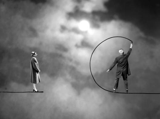 Gilbert Garcin - 397 - La rupture (The rupture), 2009, gelatin silver print,8 by 12 inches, 12 by 16 inches, or 20 by 24 inches