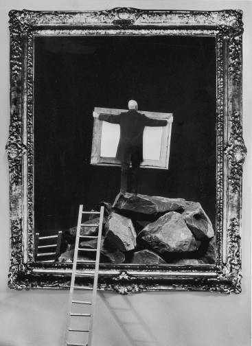 Gilbert Garcin - 46 - Le parvenu (The upstart), 1996, gelatin silver print, 12 by 8 inches, 16 by 12 inches, or 24 by 20 inches