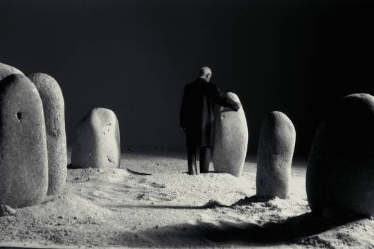 Gilbert Garcin - 49 - Idylle nocturne (Night romance), 1996, gelatin silver print, 8 by 12 inches, 12 by 16 inches, or 20 by 24 inches
