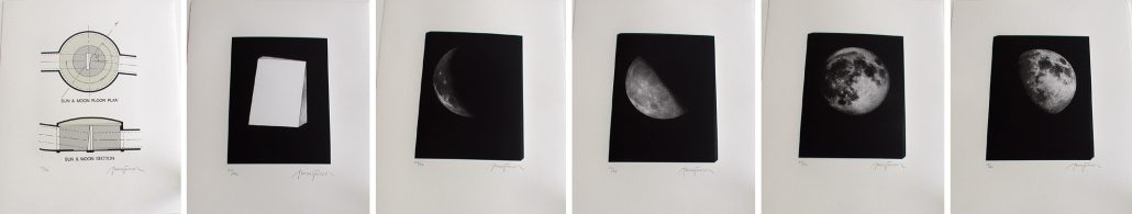 James Turrell - Image Stone: Moonside, 1999, photogravure, lithograph, aquatint, suite of 6 prints, 18.75 by 15 inches each