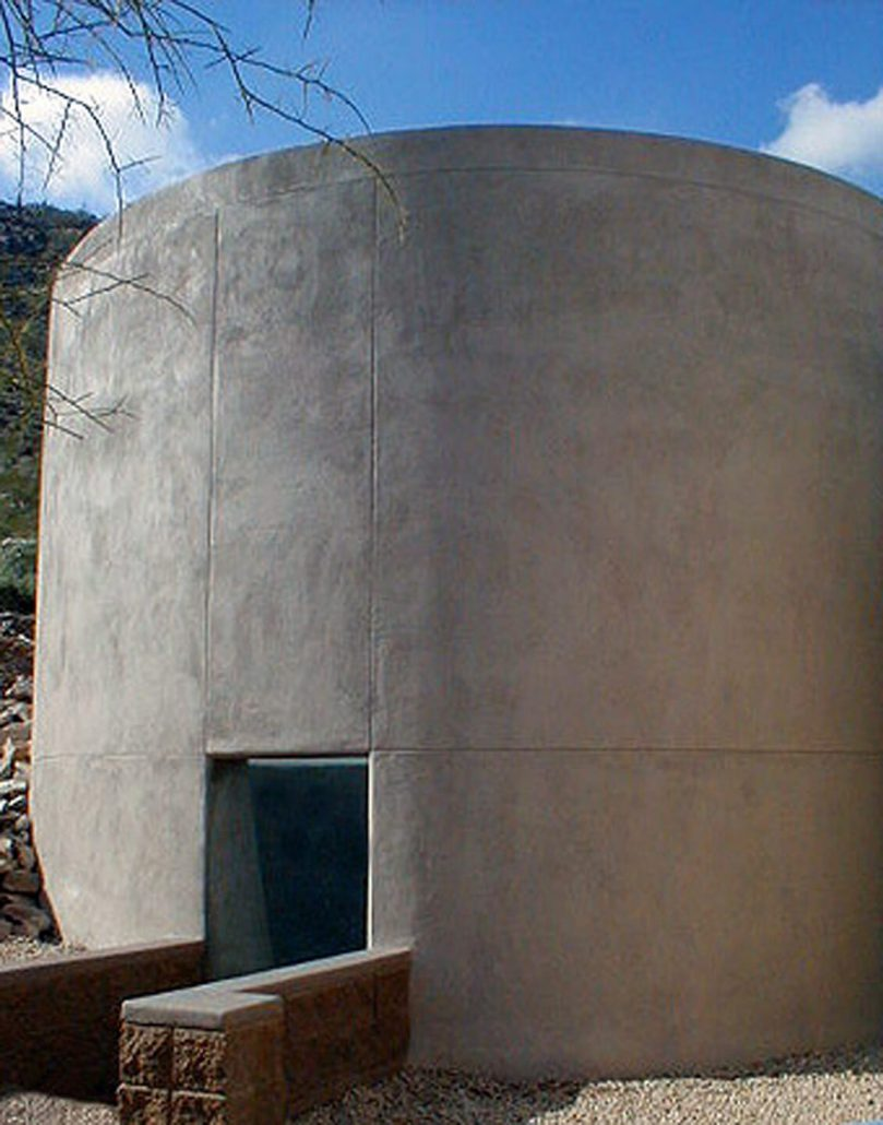 James Turrell - Site Specific, Free-standing Elliptic Skyspace, 2000, Private residence skyspace commission