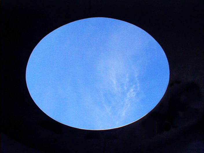 Site Specific, Free-standing Elliptic Skyspace (detail)