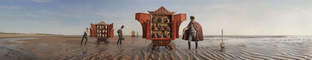 Kahn/Selesnick - Cart Pullers, 2012, archival digital print, 12 by 62 inches