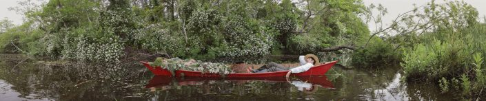 Kahn/Selesnick - Lazy Gardener, 2012, archival digital print, 12 by 62 inches