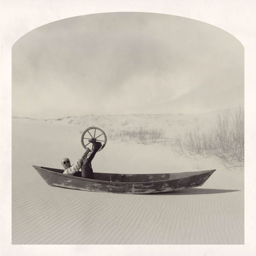 Kahn/Selesnick - On a Sea of Sand, 2013, archival digital print, 10 by 10 inches, 24 by 24 inches, or 30 by 30 inches