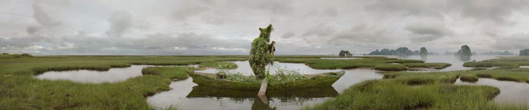 Kahn/Selesnick - Voyage of Greenman, 2012, archival digital print, 12 by 62 inches