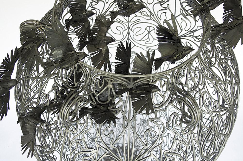 Kim Cridler - Storage Jar (pithos) (detail), 2020, 70 x 36 x 36 inches