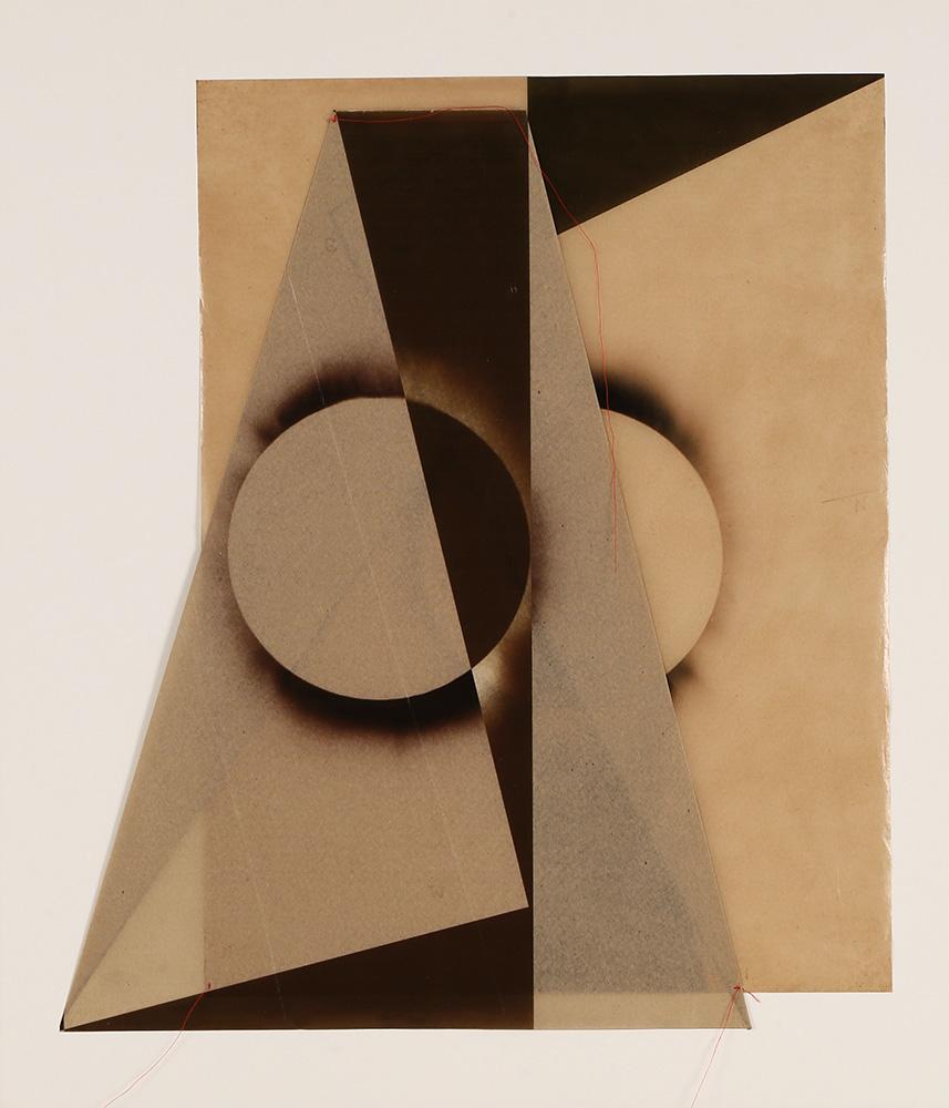 Luis González Palma - El Sol 1, 2017, digital printing on onion paper, collage, 35.25 x 31.25 framed, edition of 5