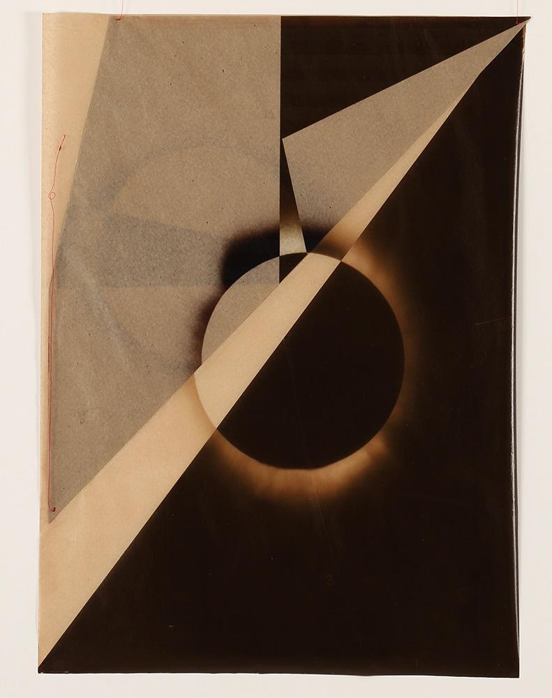 Luis González Palma - El Sol 2, 2017, digital printing on onion paper, collage, 35.25 x 31.25 framed, edition of 5
