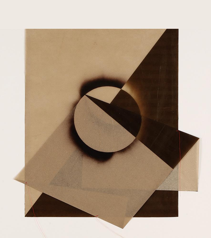Luis González Palma - El Sol 3, 2017, digital printing on onion paper, collage, 35.25 x 31.25 framed, edition of 5