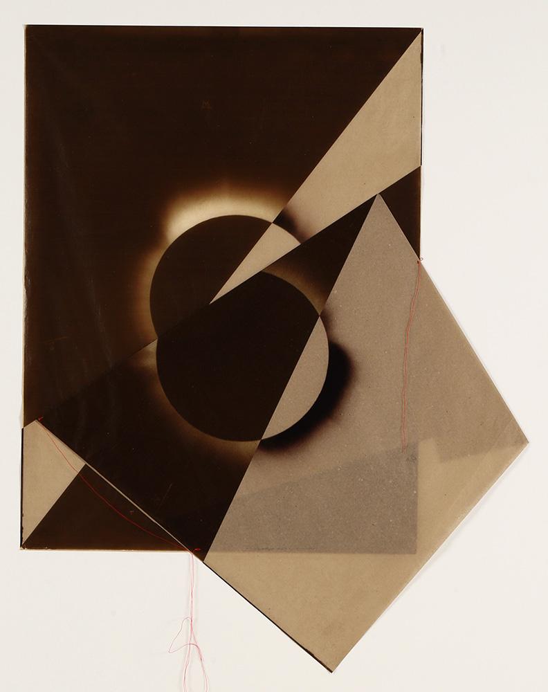 Luis González Palma - El Sol 5, 2017, digital printing on onion paper, collage, 35.25 x 31.25 framed, edition of 5