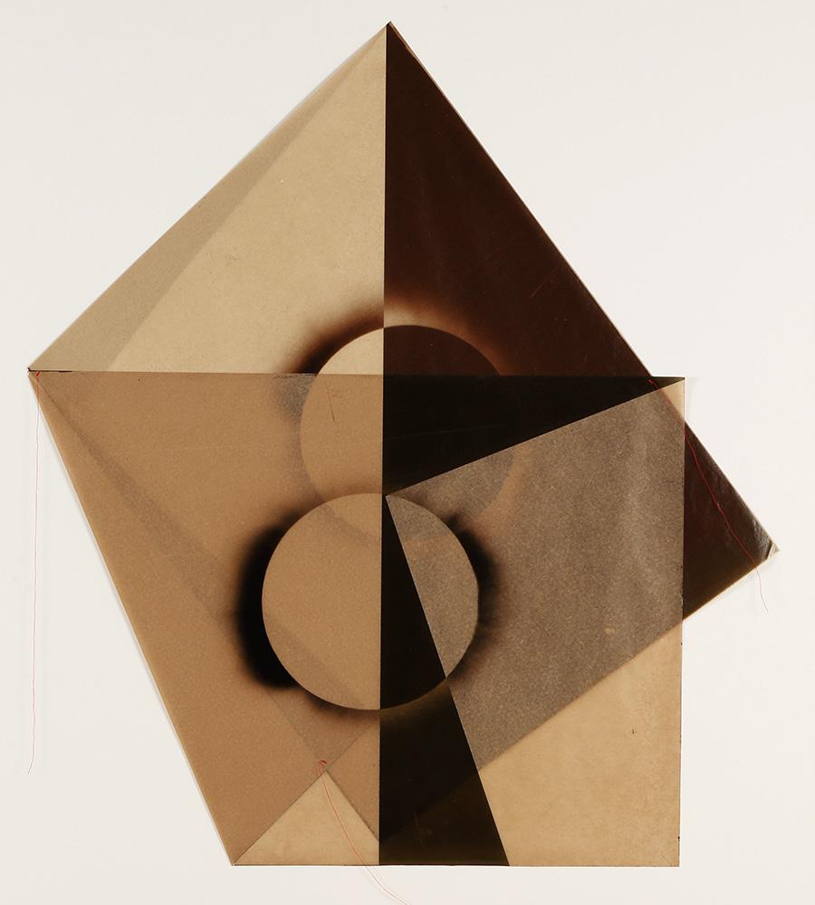 Luis González Palma - El Sol 6, 2017, digital printing on onion paper, collage, 35.25 x 31.25 framed, edition of 5