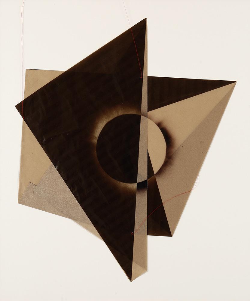 Luis González Palma - El Sol 7, 2017, digital printing on onion paper, collage, 35.25 x 31.25 framed, edition of 5