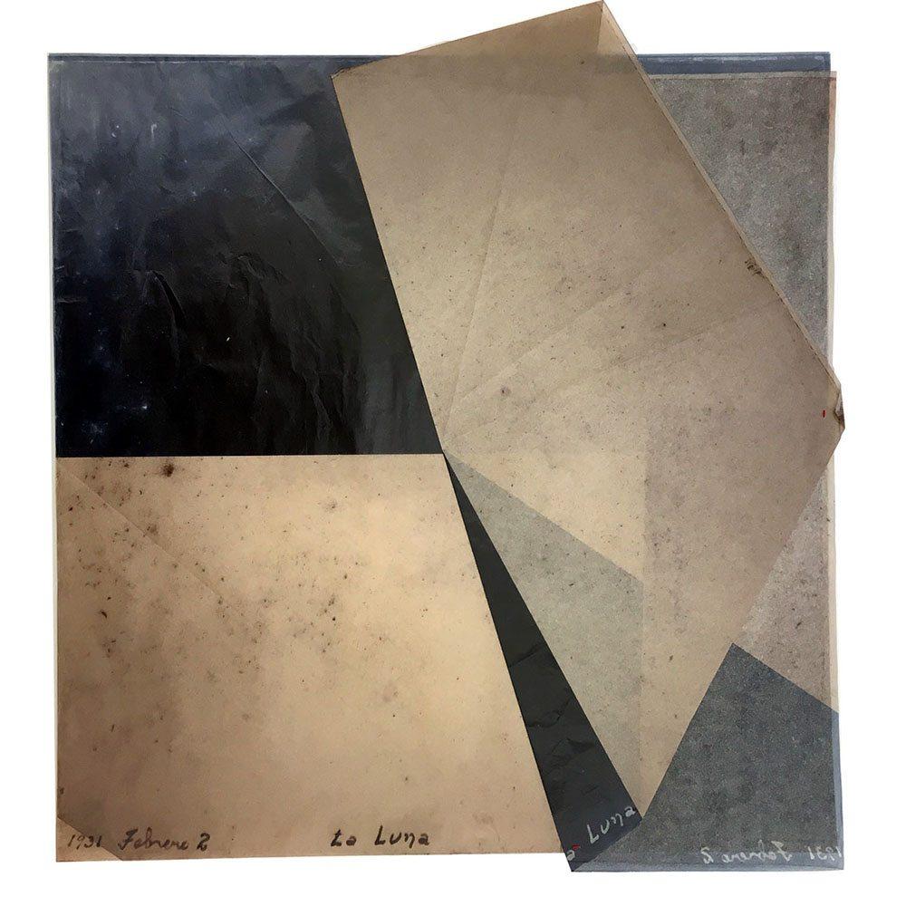 Luis González Palma - La Luna 2, 2016, digital printing on onion paper, collage, 21.25 by 20.25 inches